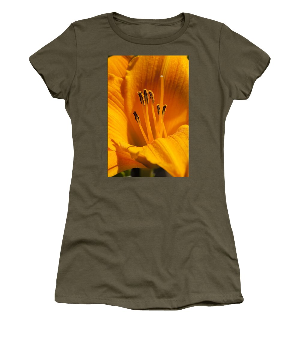 Flowers Women's T-Shirt (Athletic Fit) featuring the photograph Stamens by Kelley King