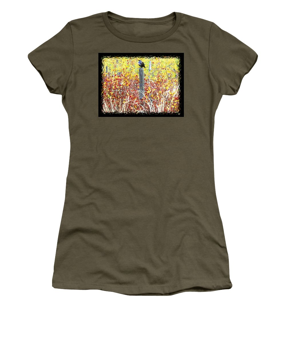 Quail Women's T-Shirt (Athletic Fit) featuring the digital art Standing Guard by Will Borden