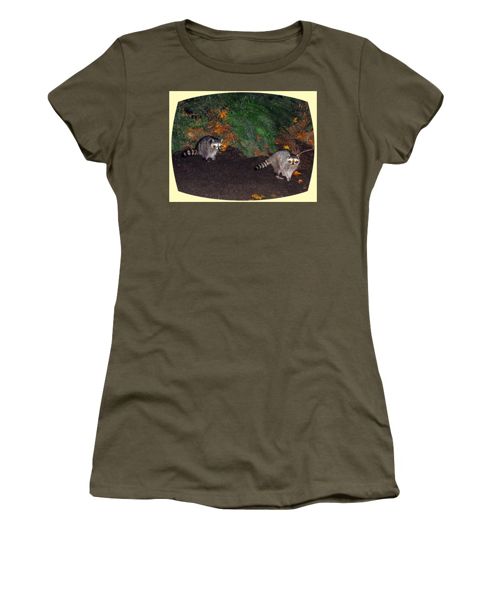 Raccoons Women's T-Shirt featuring the photograph Stanley Park Rascals by Will Borden