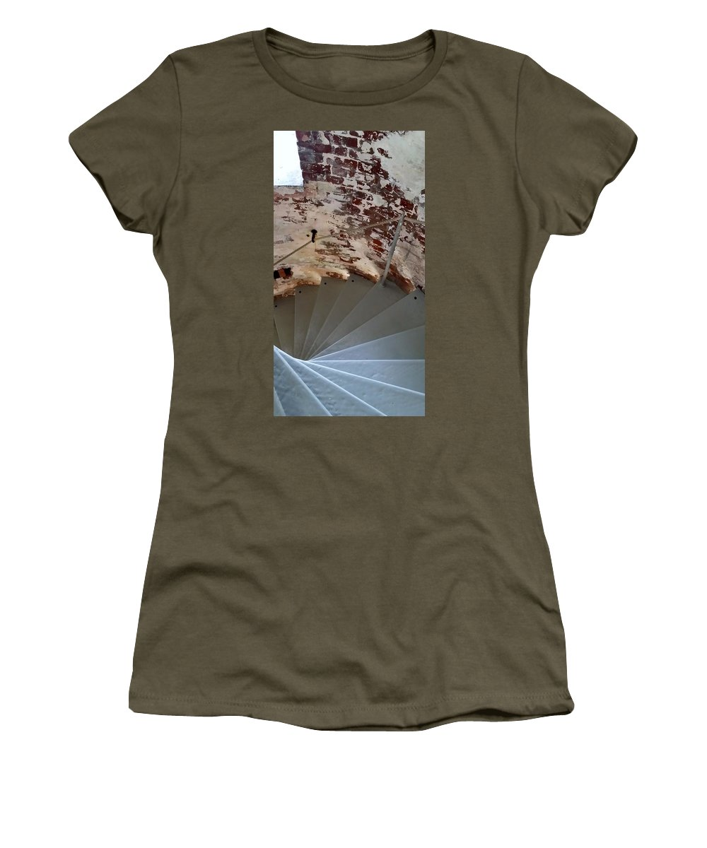 Montauk Women's T-Shirt featuring the photograph Steps From The Wall by Rob Hans