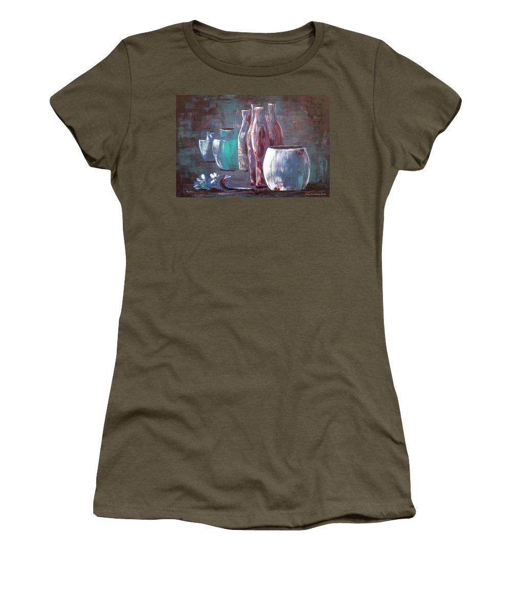 Still Women's T-Shirt featuring the painting Still Life 2 by Gina De Gorna