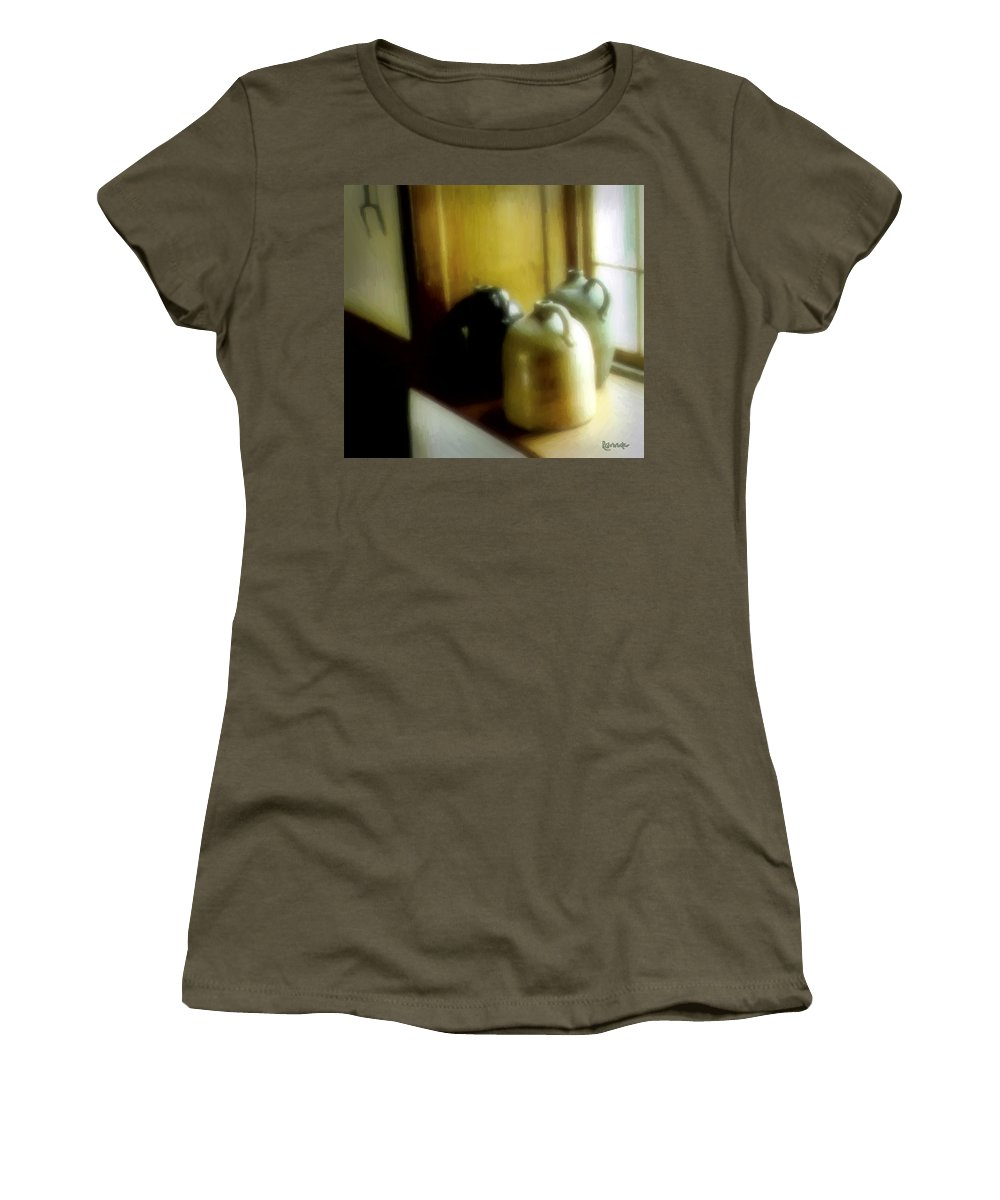 Antiques Women's T-Shirt featuring the digital art Still Life With Stoneware by RC DeWinter