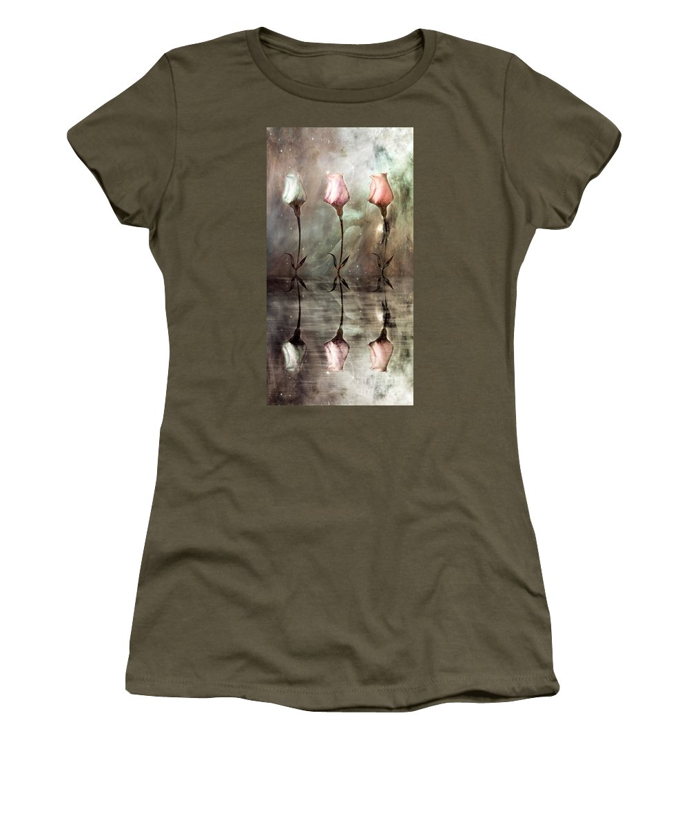 Floral Women's T-Shirt (Athletic Fit) featuring the photograph Still by Jacky Gerritsen