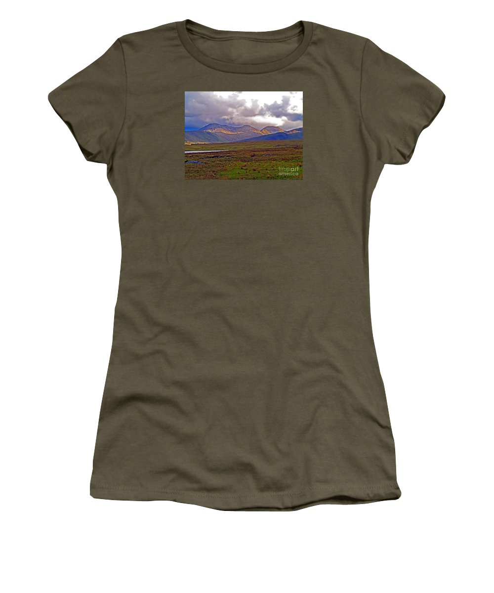 Fine Art Photography Women's T-Shirt featuring the photograph Storm Clouds Ahead In Connemara by Patricia Griffin Brett