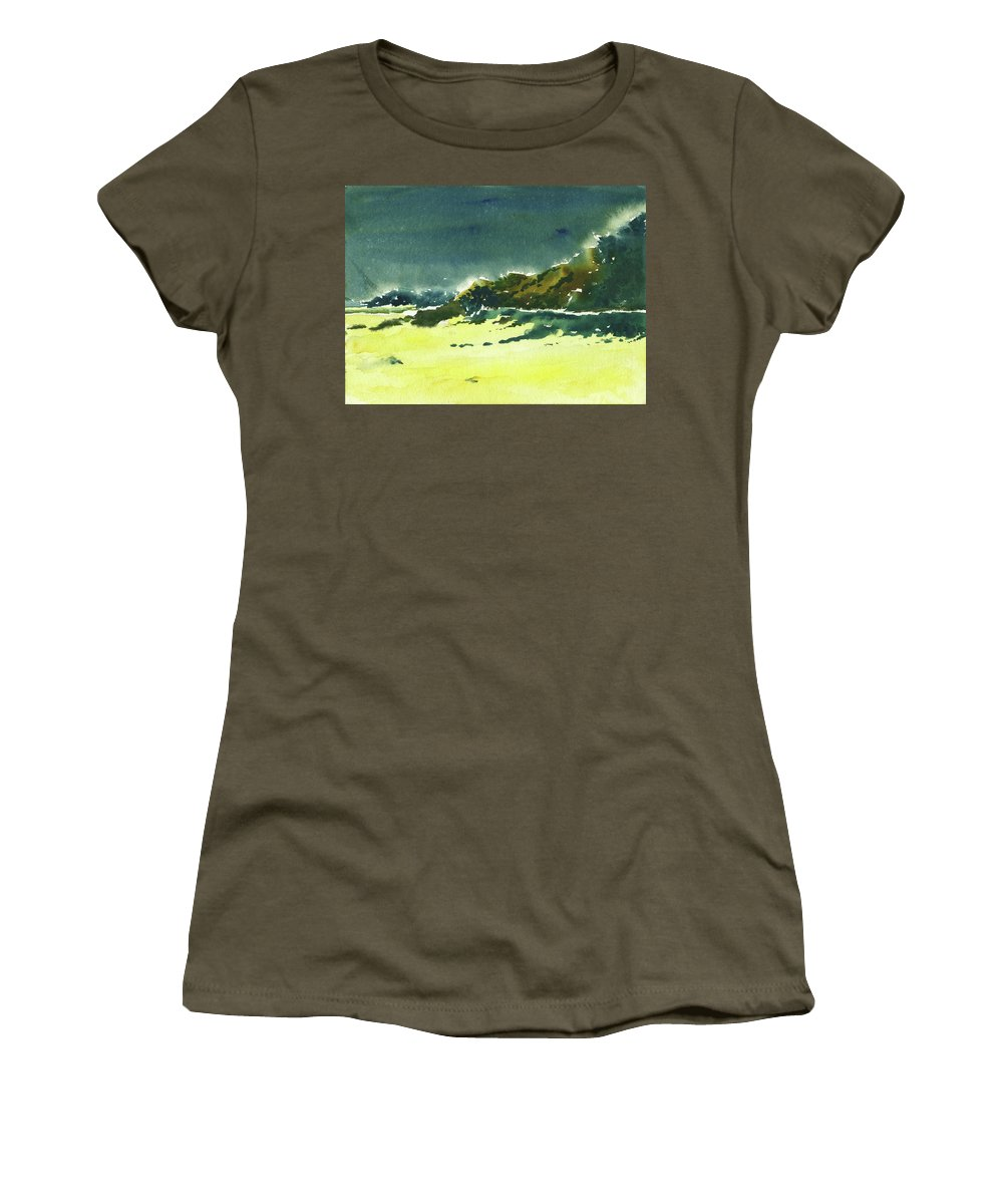 Storm Women's T-Shirt (Athletic Fit) featuring the painting Storm Is Brewing by Anil Nene