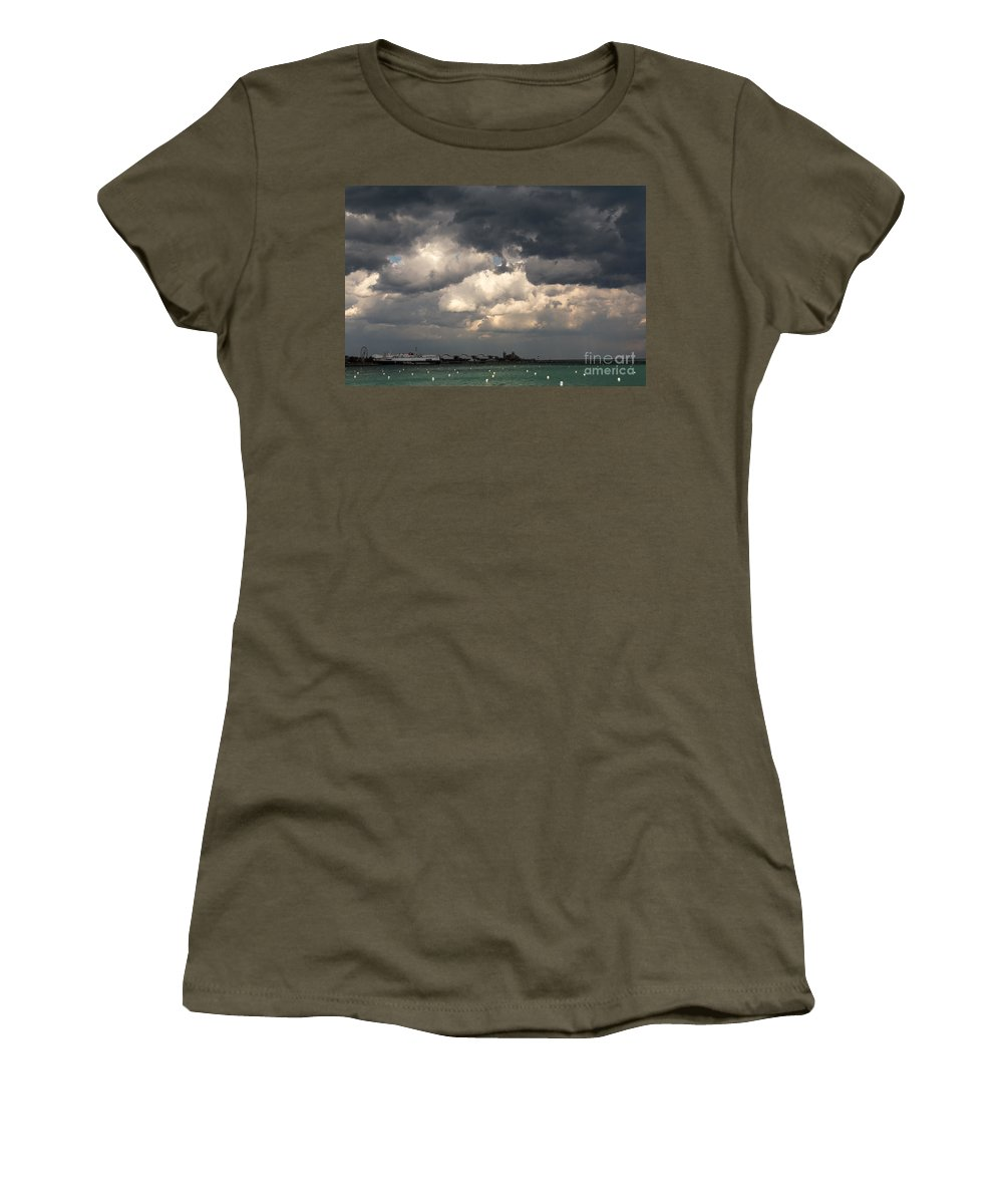 Chicago Women's T-Shirt featuring the photograph Storm Over Lake Michigan by Terri Morris