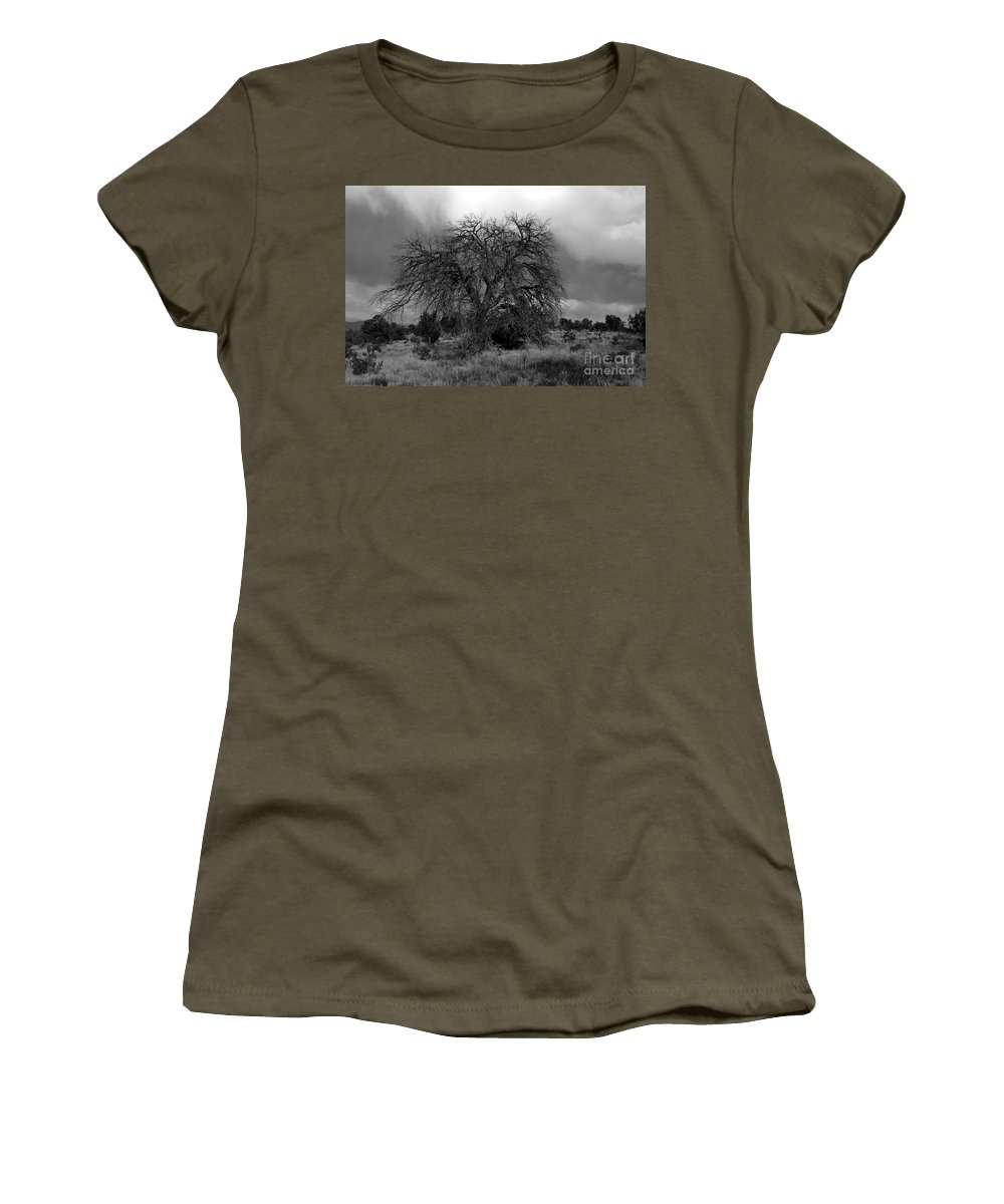 Storm Women's T-Shirt featuring the photograph Storm Tree by David Lee Thompson