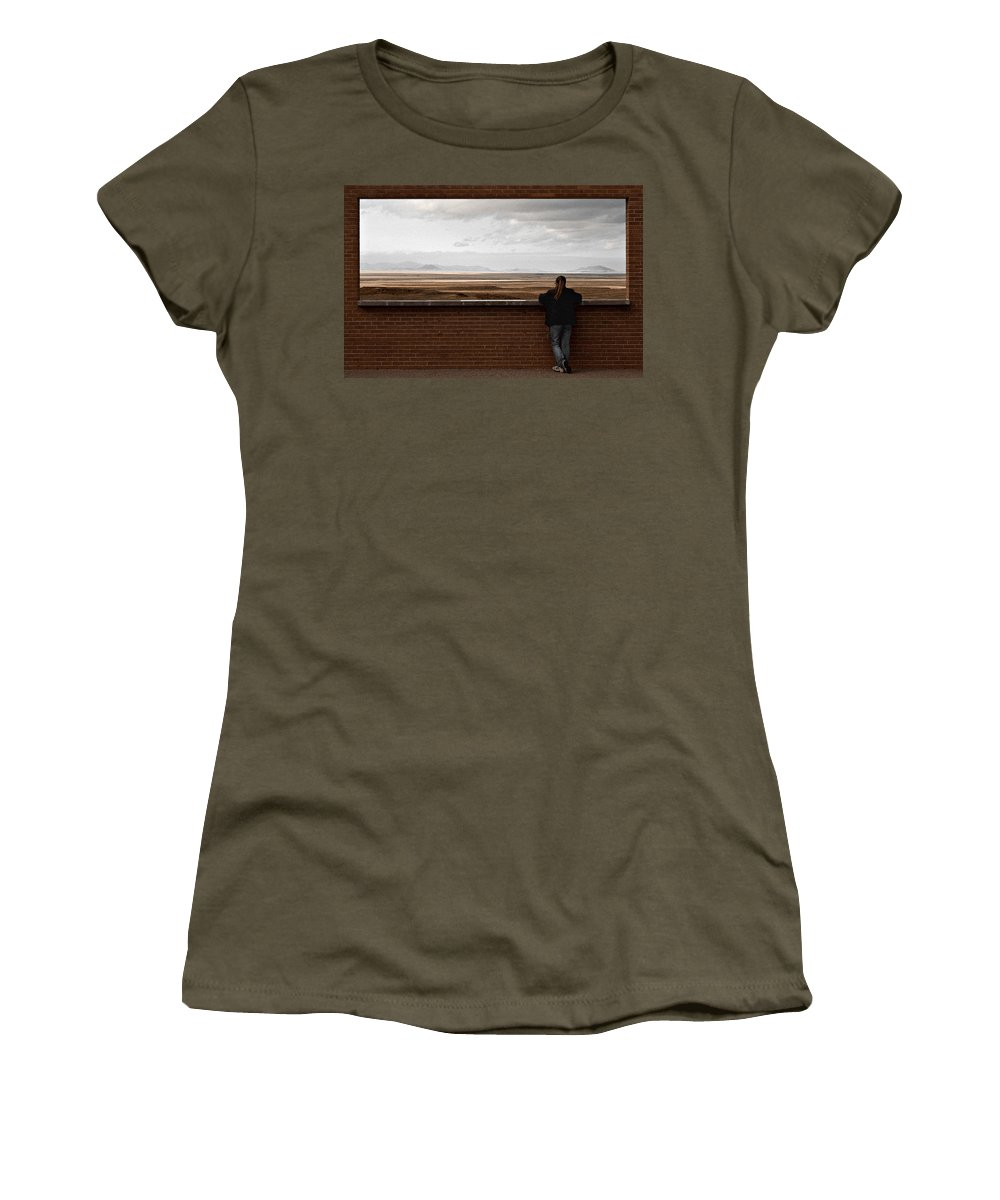 Storm Women's T-Shirt featuring the photograph Storm View by Scott Sawyer