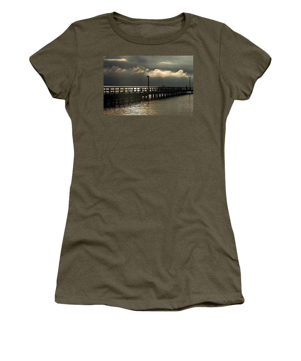 Clay Women's T-Shirt (Athletic Fit) featuring the photograph Storms Brewin' by Clayton Bruster