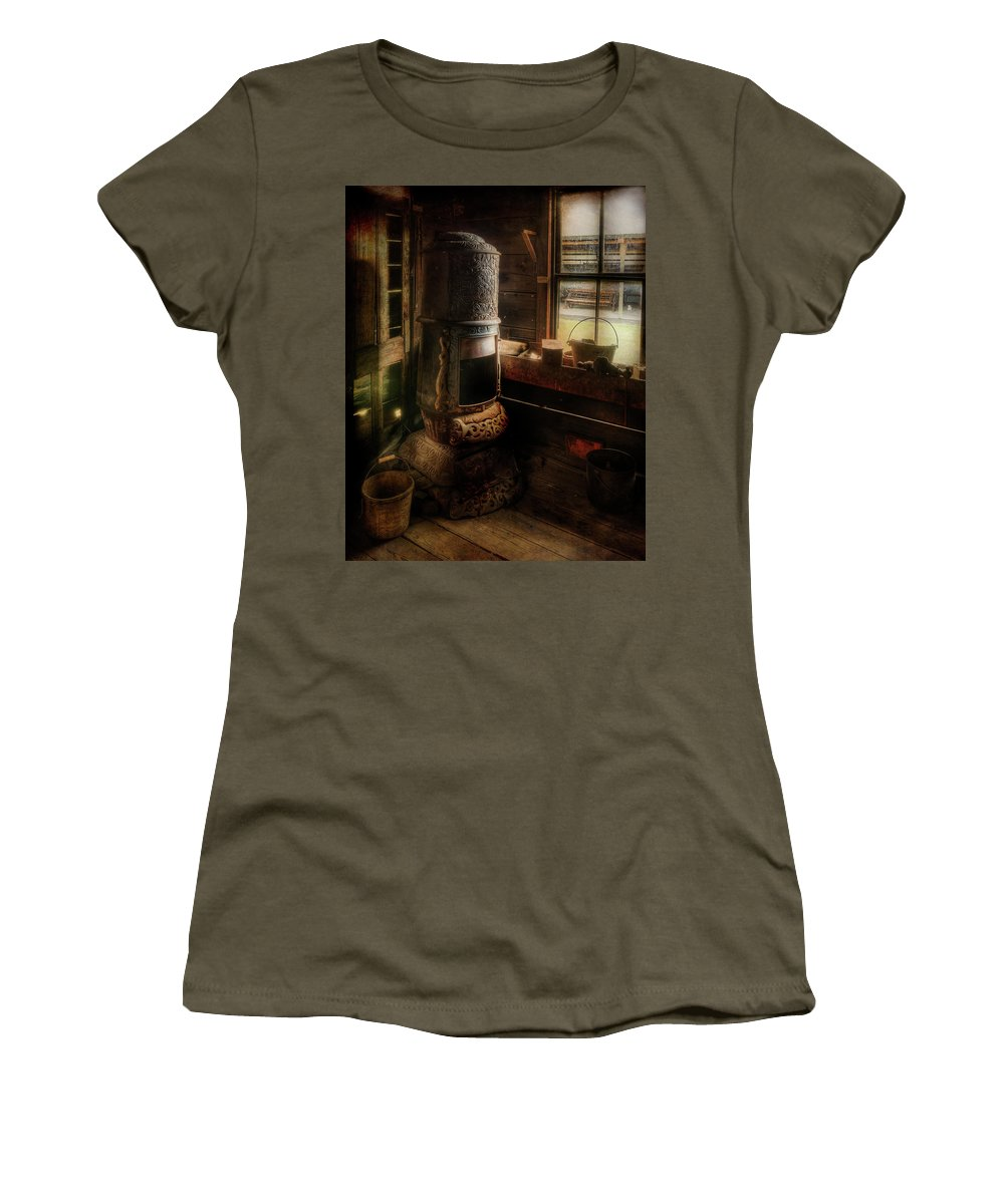 Assay Office Women's T-Shirt (Athletic Fit) featuring the photograph Stove by Doug Matthews