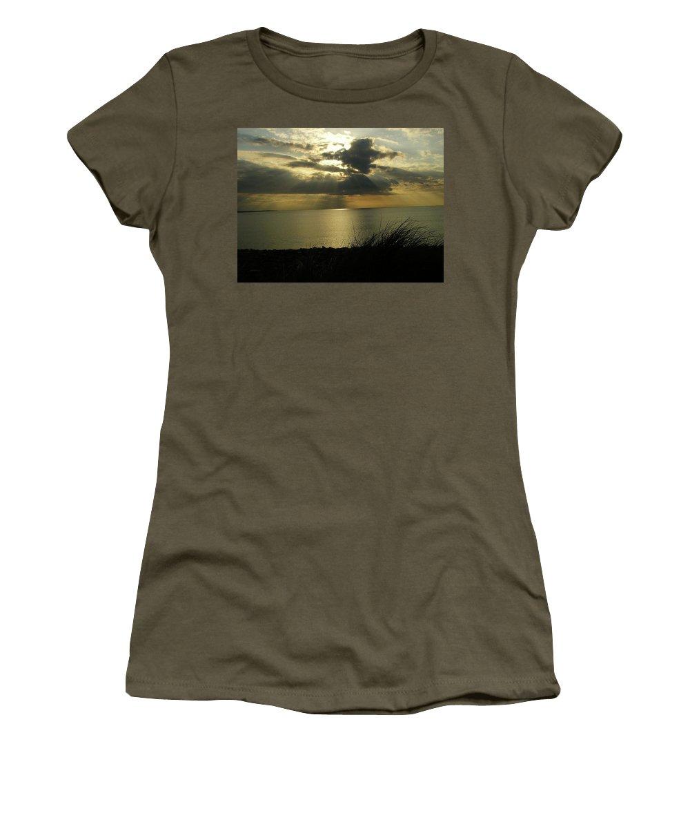 Seascape Women's T-Shirt featuring the photograph Strandhill Co Sligo Ireland by Louise Macarthur Art and Photography