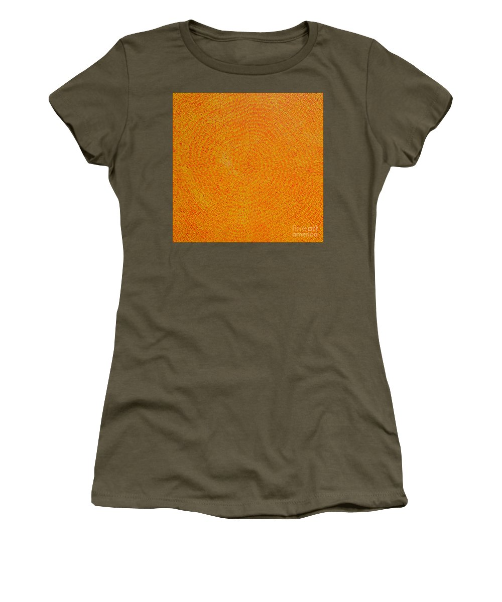 Abstract Women's T-Shirt (Athletic Fit) featuring the painting Su Gaia by Dean Triolo