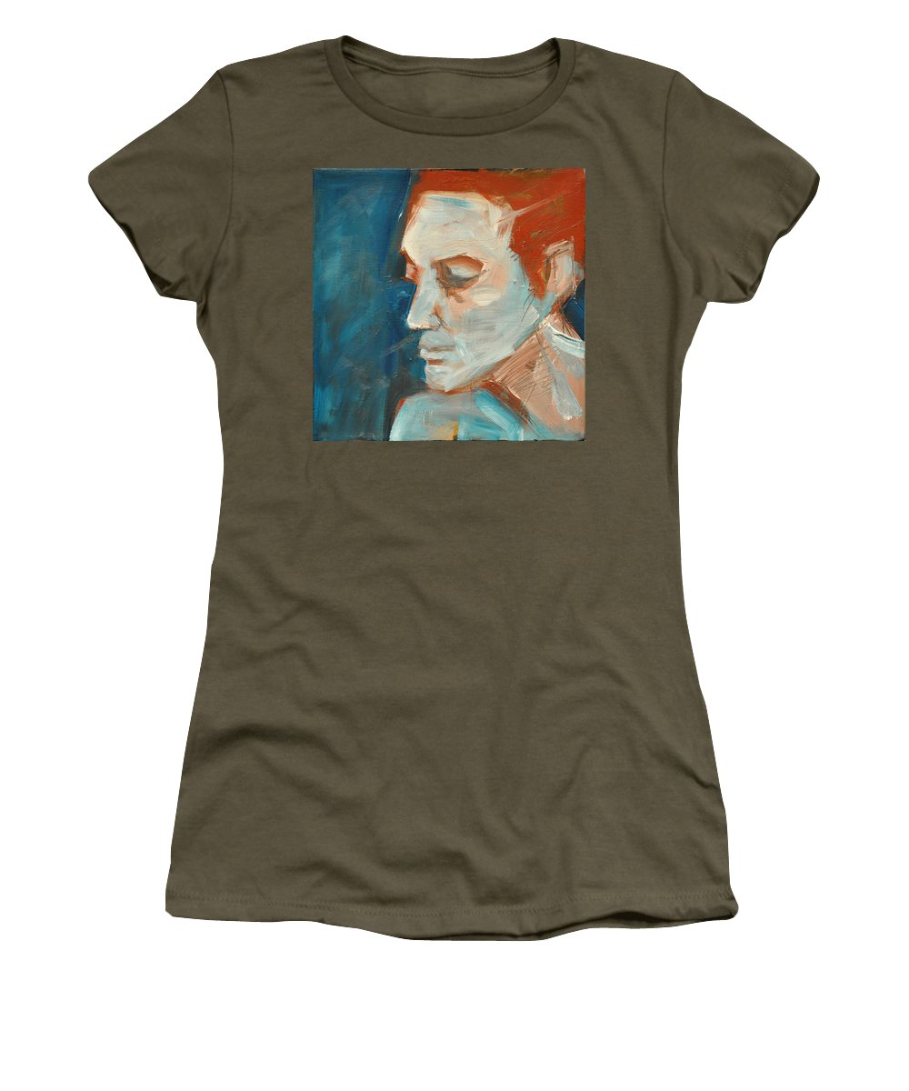 Face Women's T-Shirt featuring the painting Sullen by Tim Nyberg