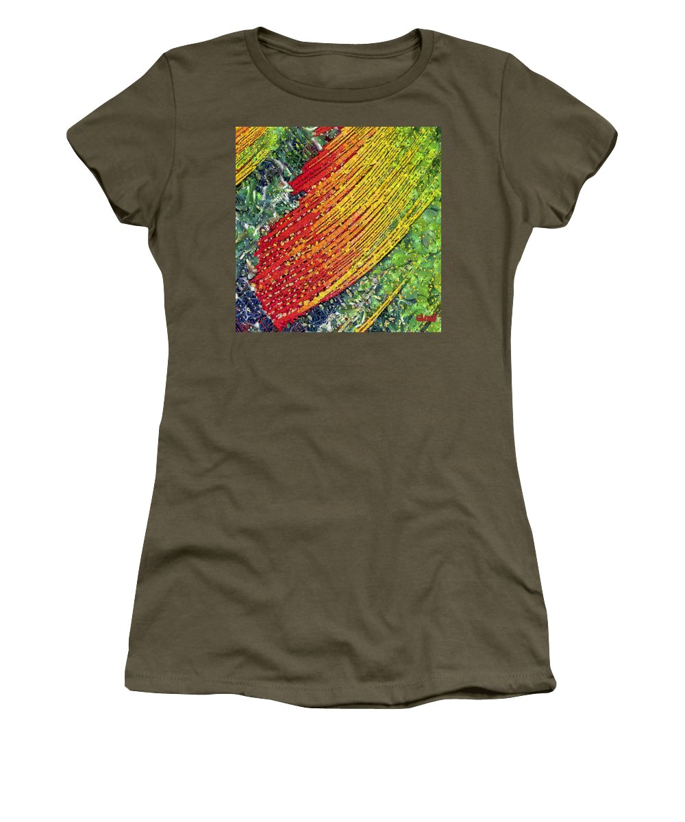 Summer Women's T-Shirt (Athletic Fit) featuring the painting Summer by Dragica Micki Fortuna
