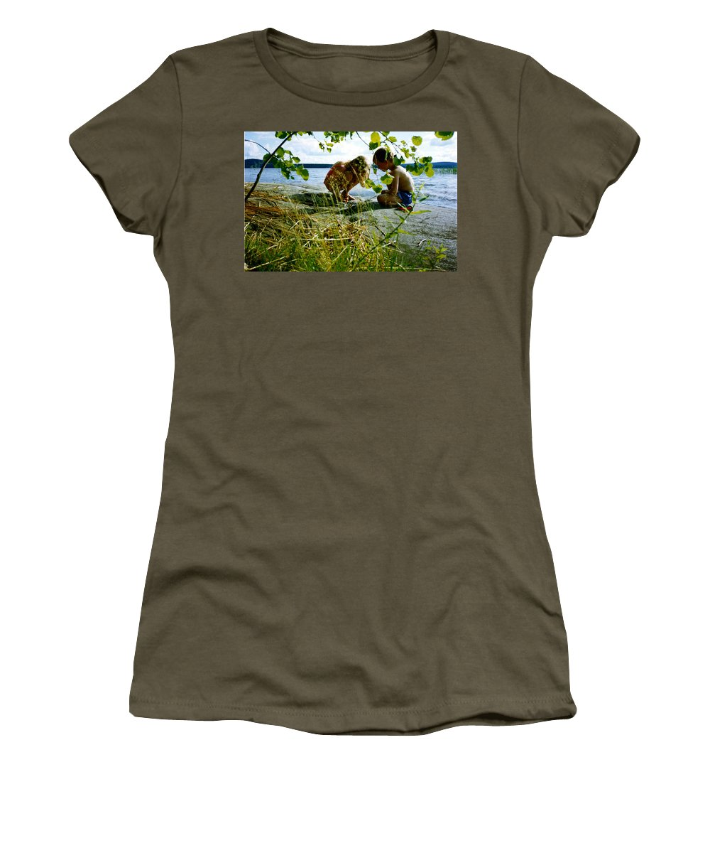 Kids Women's T-Shirt (Athletic Fit) featuring the photograph Summer Fun In Finland by Merja Waters