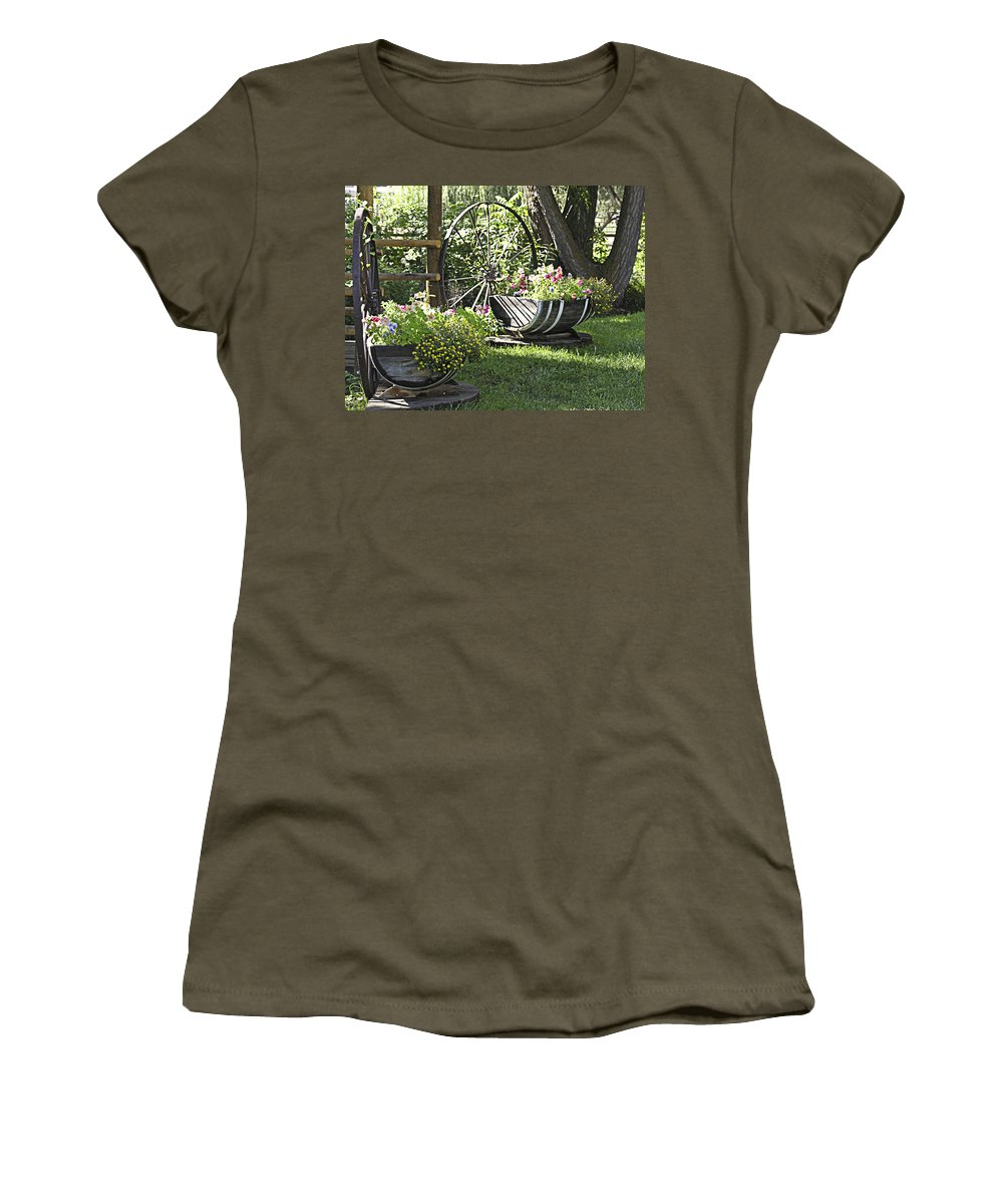 Flowers Women's T-Shirt featuring the photograph Summer Sweetness In Color by Marilyn Hunt
