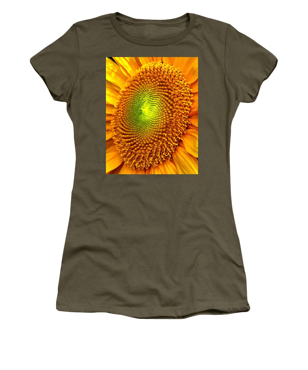 Sun Women's T-Shirt (Athletic Fit) featuring the photograph Sun Burst by Ian MacDonald