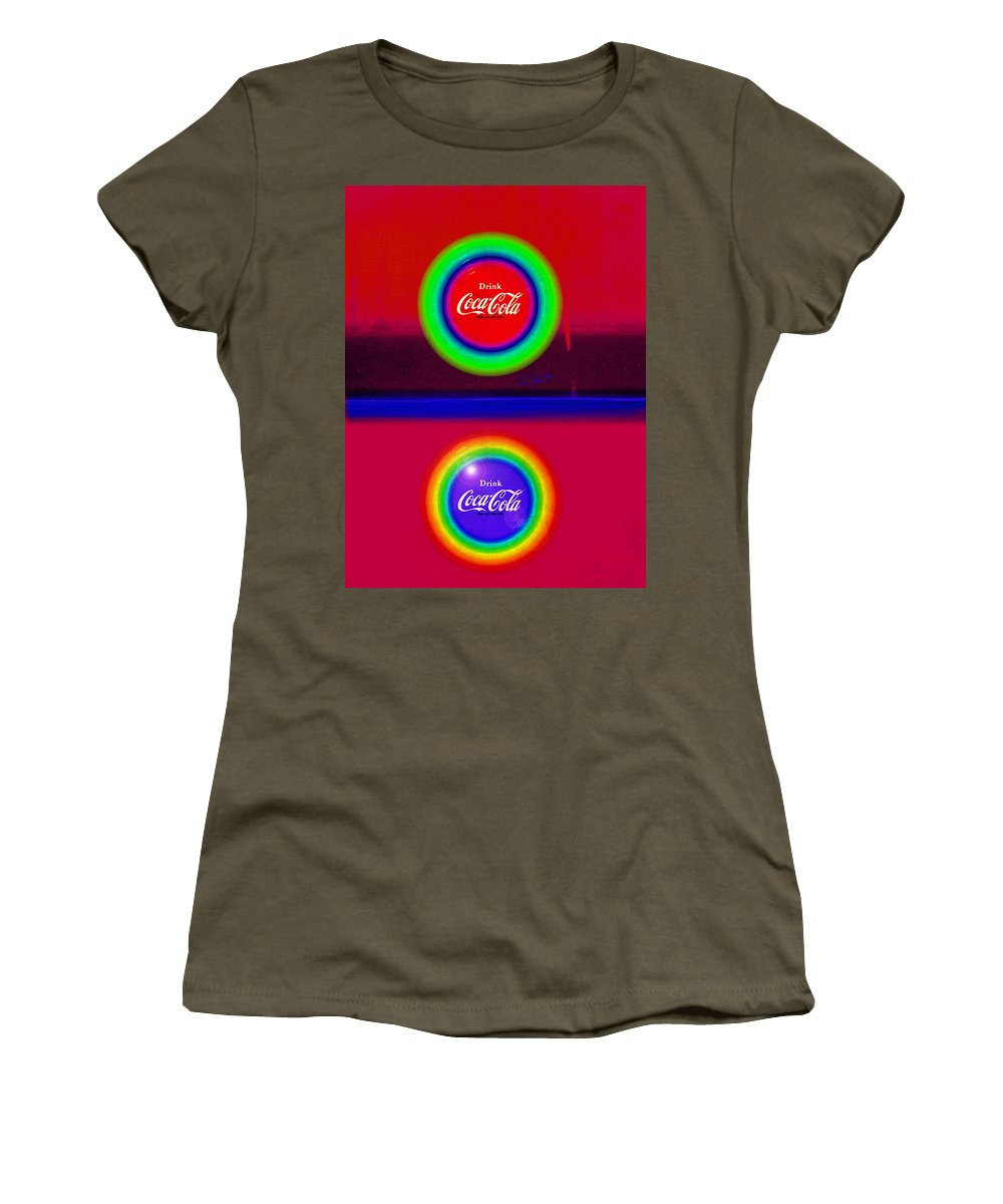 Red Women's T-Shirt featuring the painting Sun Down by Charles Stuart