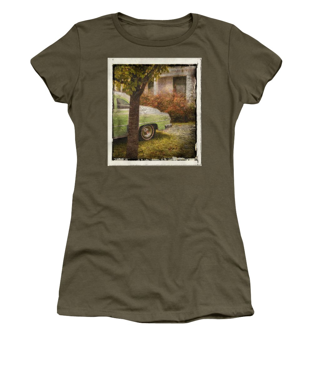 Cars Women's T-Shirt (Athletic Fit) featuring the photograph Sunday Morning by John Anderson