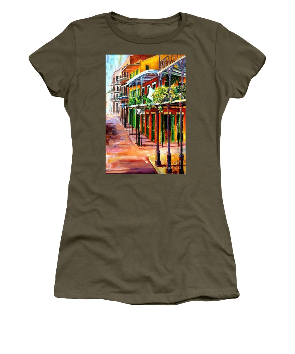 New Orleans Women's T-Shirt featuring the painting Sunlit New Orleans by Diane Millsap