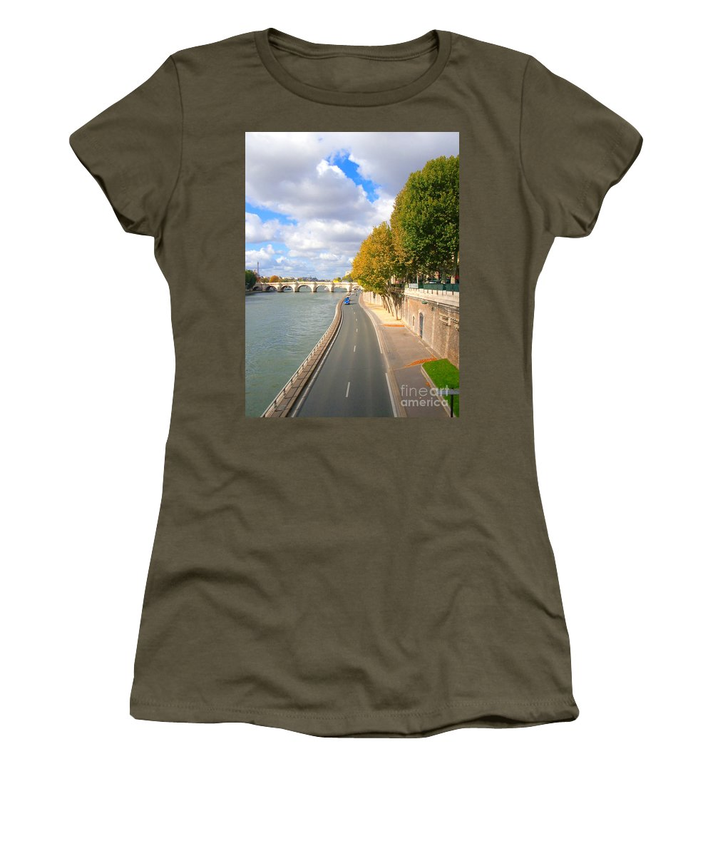 Paris Women's T-Shirt featuring the photograph Sunny Day In Paris by Charuhas Images