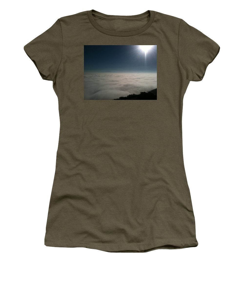 Ortega Highway Women's T-Shirt featuring the photograph Sunrise From The Ortega by Christine Owens
