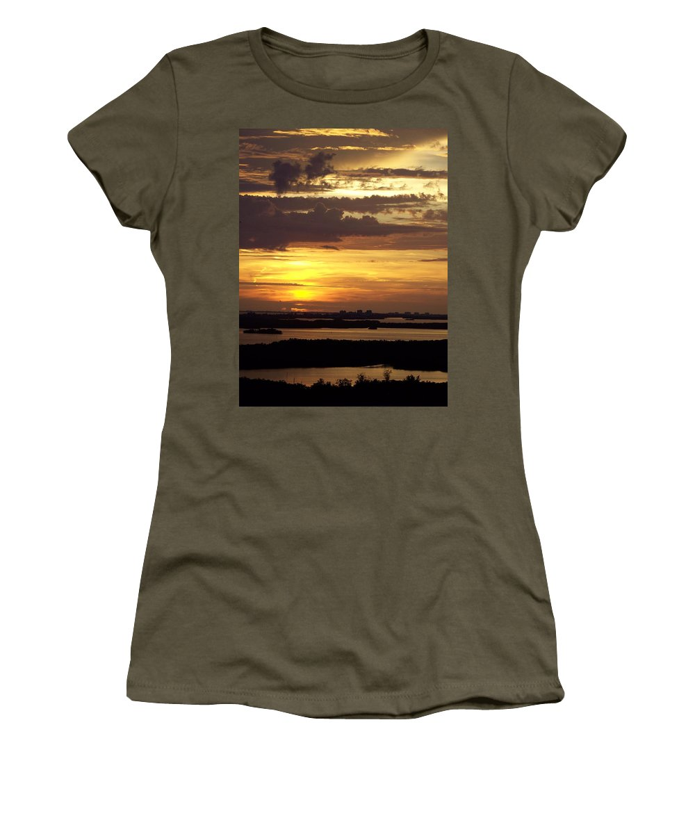 Sunset Women's T-Shirt featuring the photograph Sunset 0001 by Laurie Paci