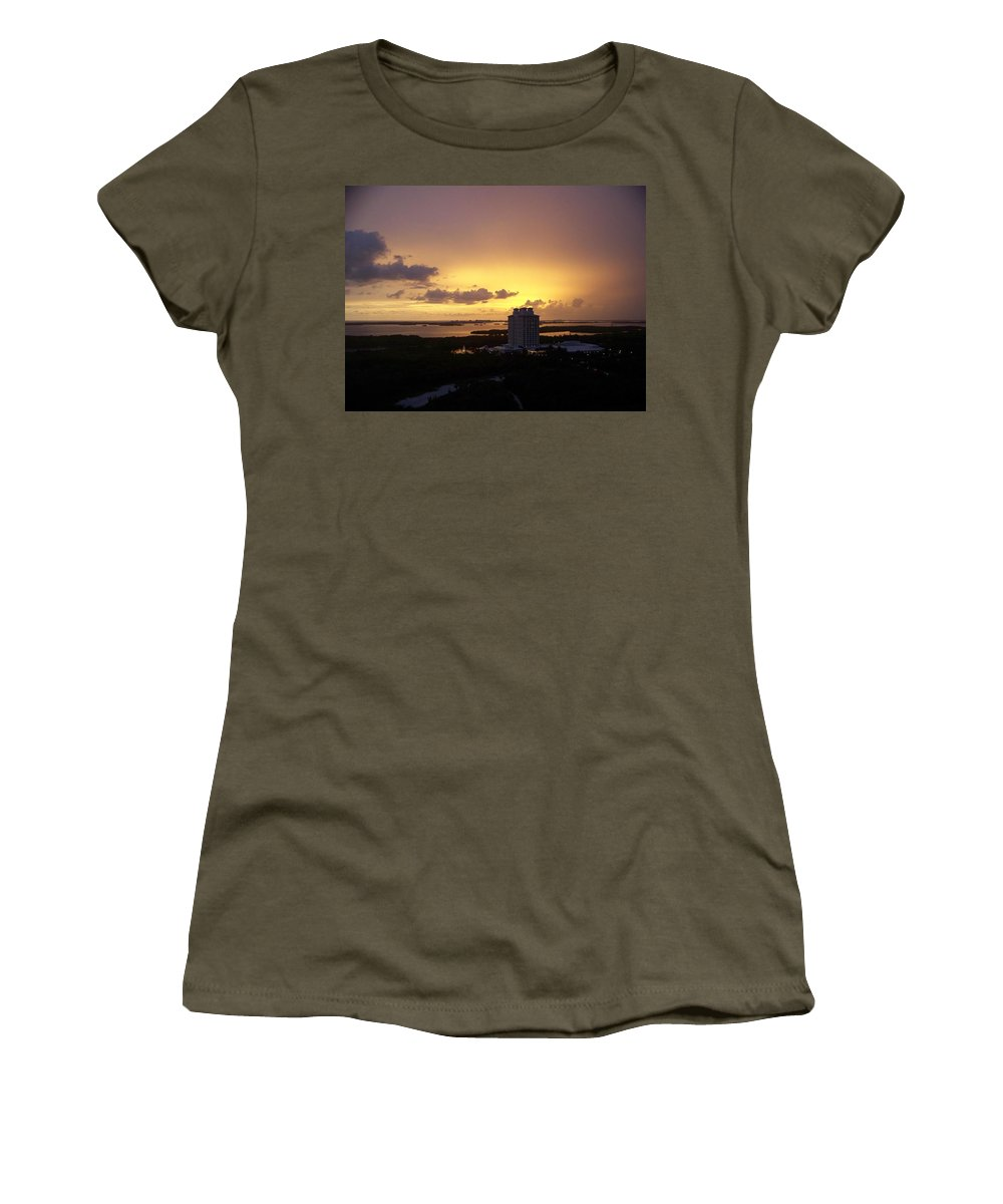 Sunset Women's T-Shirt (Athletic Fit) featuring the photograph Sunset 0003 by Laurie Paci