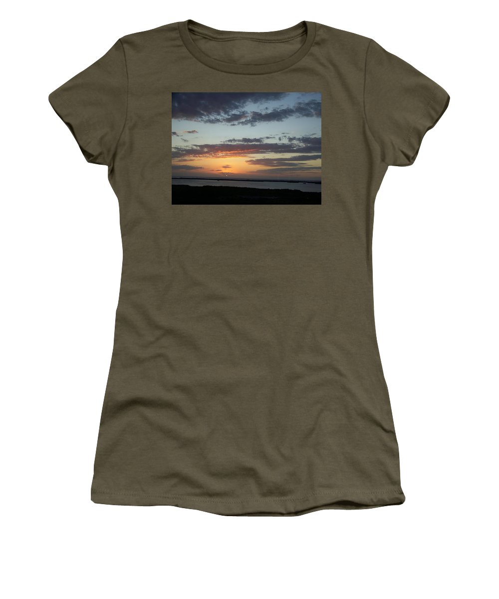 Sunset Women's T-Shirt (Athletic Fit) featuring the photograph Sunset 0008 by Laurie Paci