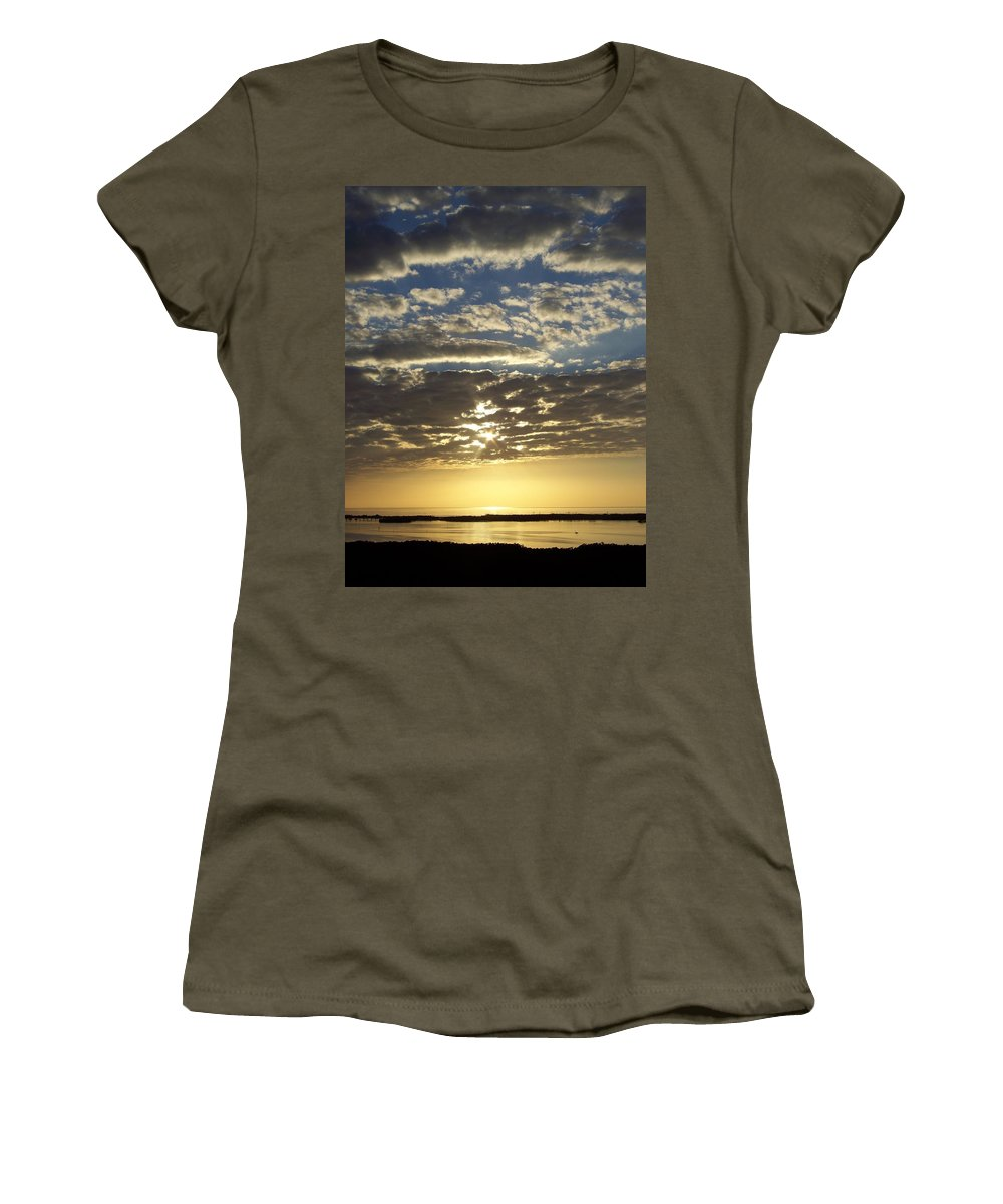 Sunset Women's T-Shirt featuring the photograph Sunset 0011 by Laurie Paci