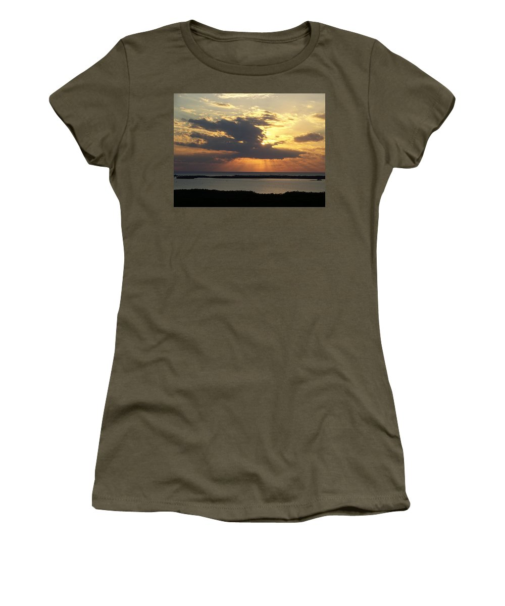 Sunset Women's T-Shirt (Athletic Fit) featuring the photograph Sunset 0036 by Laurie Paci