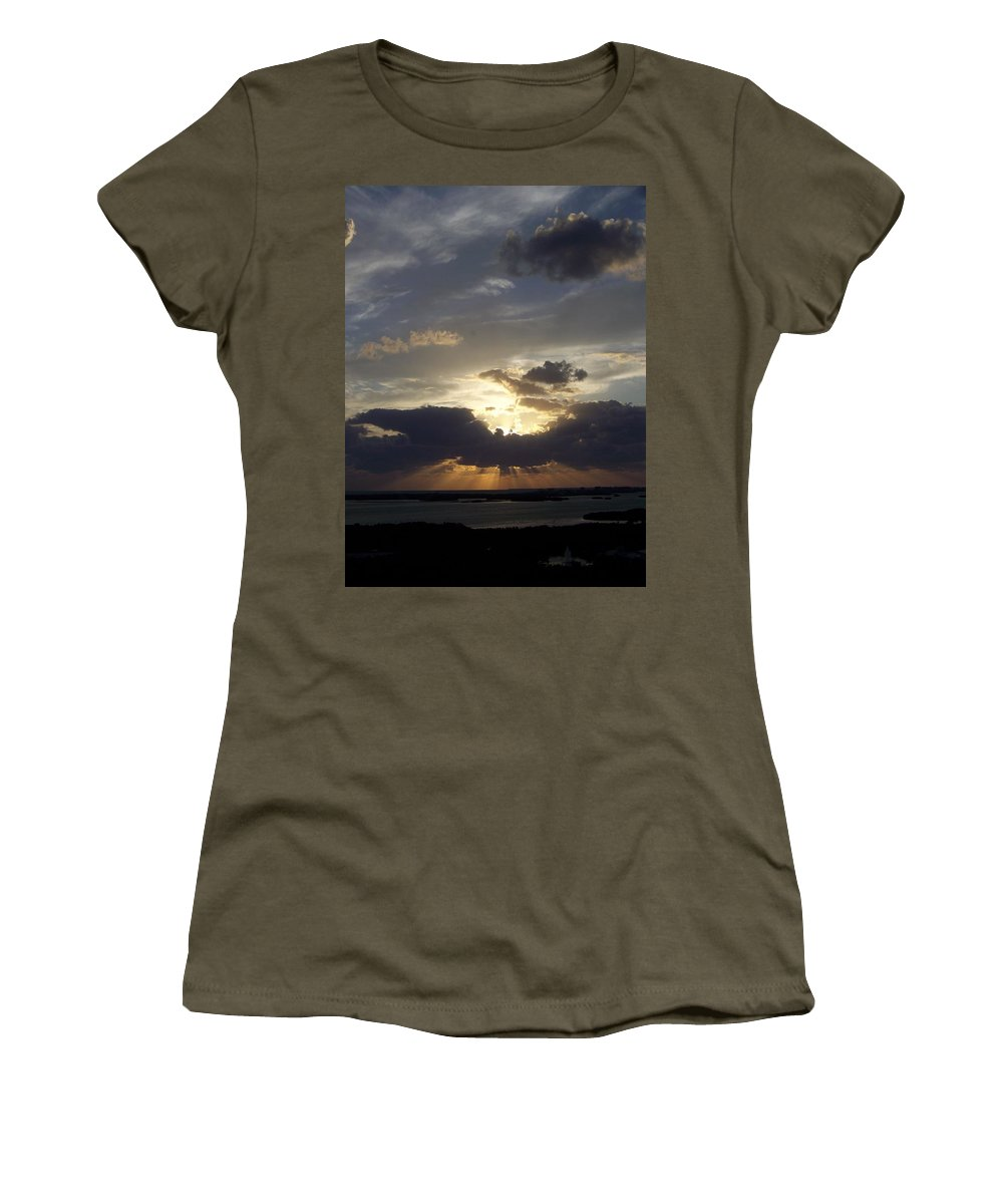 Sunset Women's T-Shirt (Athletic Fit) featuring the photograph Sunset 0044 by Laurie Paci