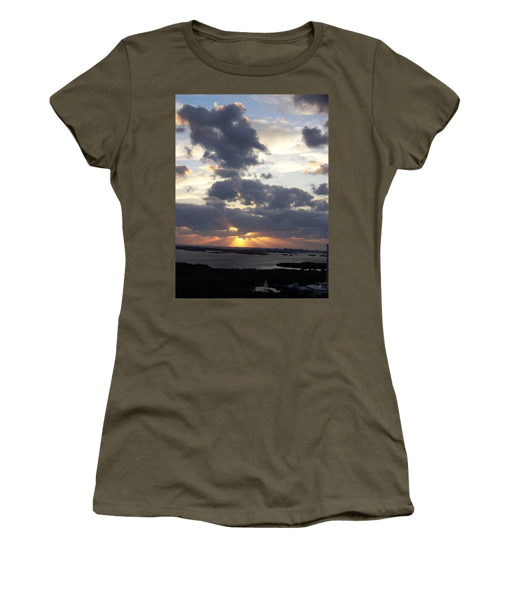 Sunset Women's T-Shirt featuring the photograph Sunset 0046 by Laurie Paci