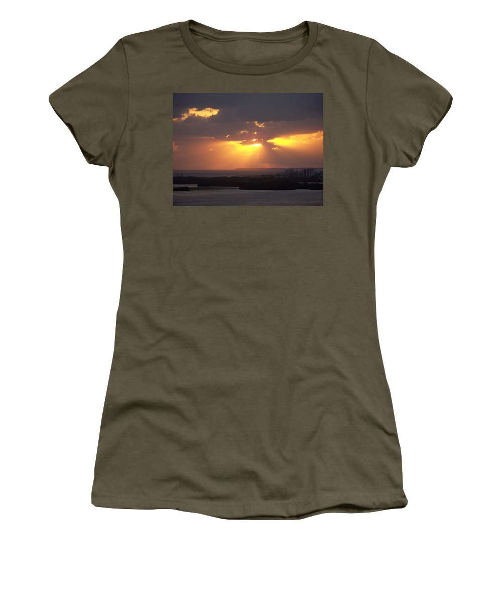 Sunset Women's T-Shirt featuring the photograph Sunset 0047 by Laurie Paci