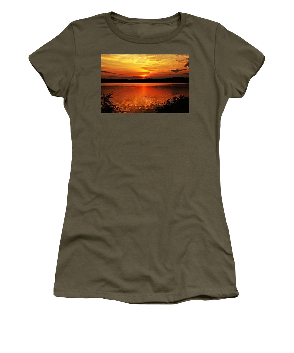Sunrise Women's T-Shirt featuring the photograph Sunset Xxiii by Joe Faherty