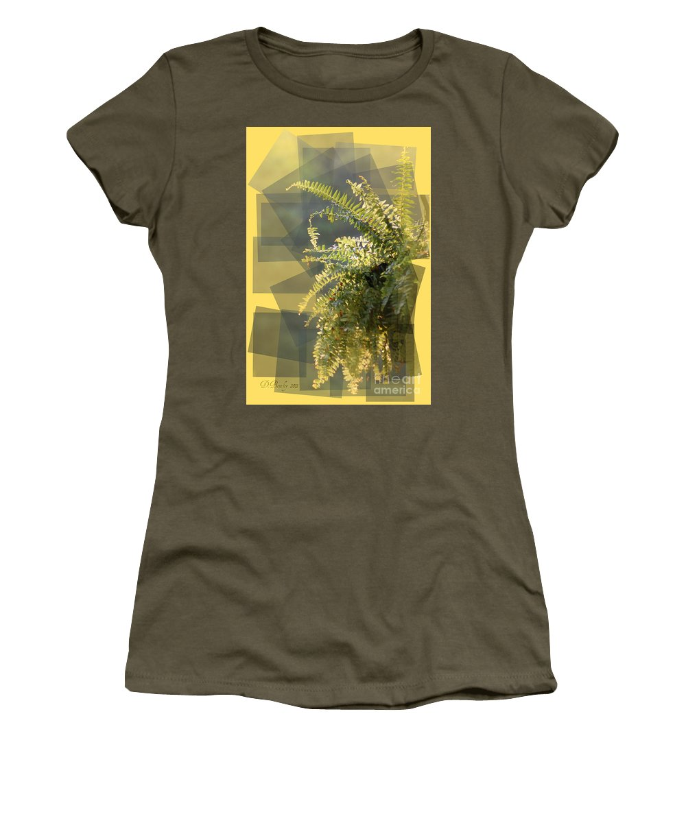Boston Fern Women's T-Shirt featuring the photograph Sunshine by Donna Bentley