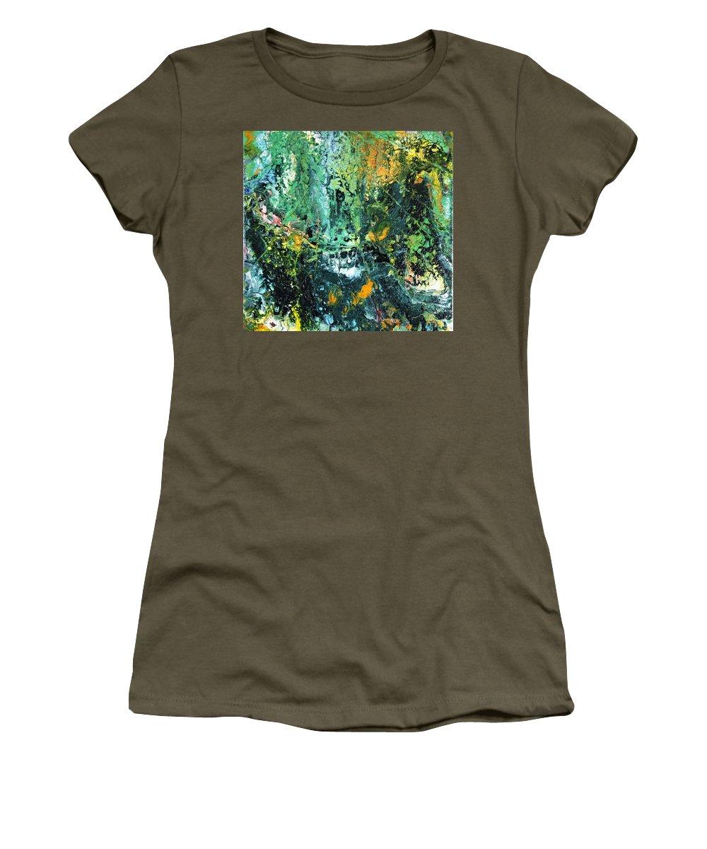 Australian Artist Women's T-Shirt (Athletic Fit) featuring the painting Sunshine by Giro Tavitian
