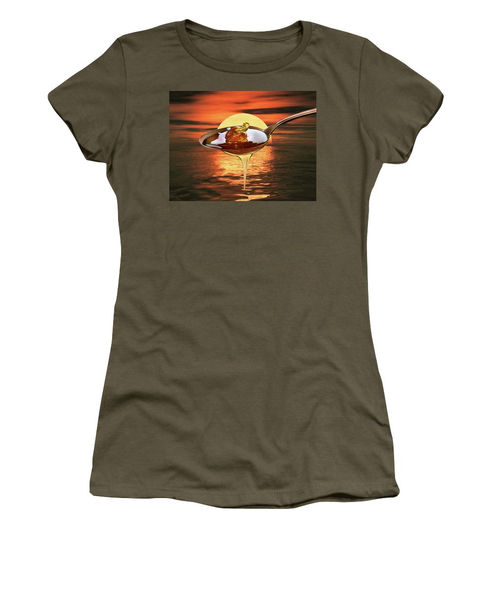 Sweet Women's T-Shirt (Athletic Fit) featuring the photograph Sweet by Manfred Lutzius