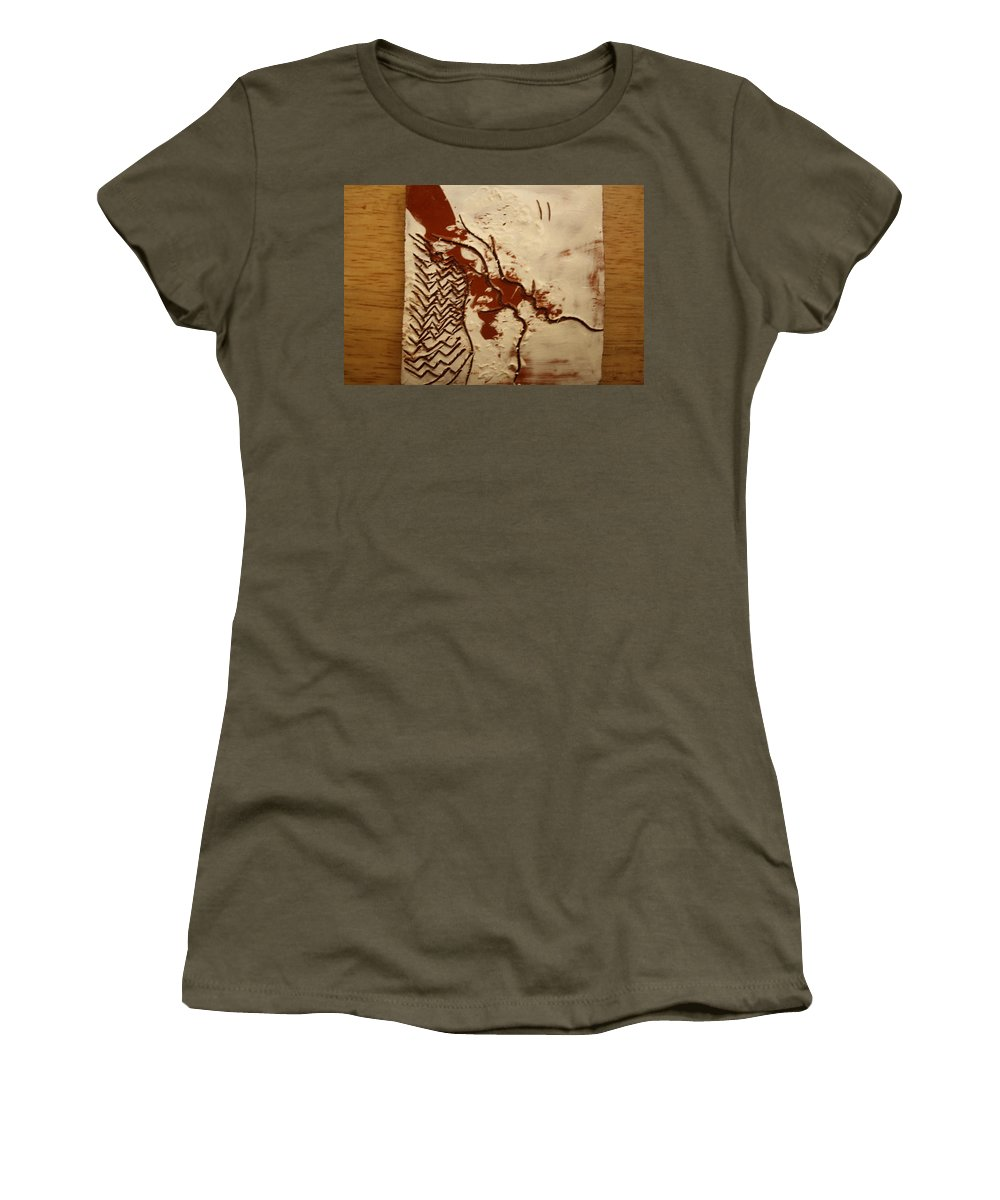Jesus Women's T-Shirt (Athletic Fit) featuring the ceramic art Sweethearts 9 - Tile by Gloria Ssali