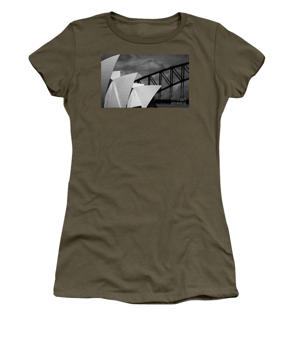 Sydney Opera House Women's T-Shirt featuring the photograph Sydney Opera House With Harbour Bridge by Sheila Smart Fine Art Photography