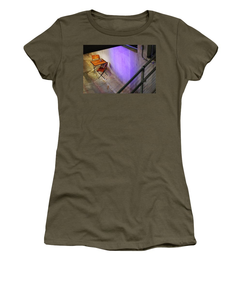 Cafe Women's T-Shirt featuring the photograph Table For Two by Jill Reger