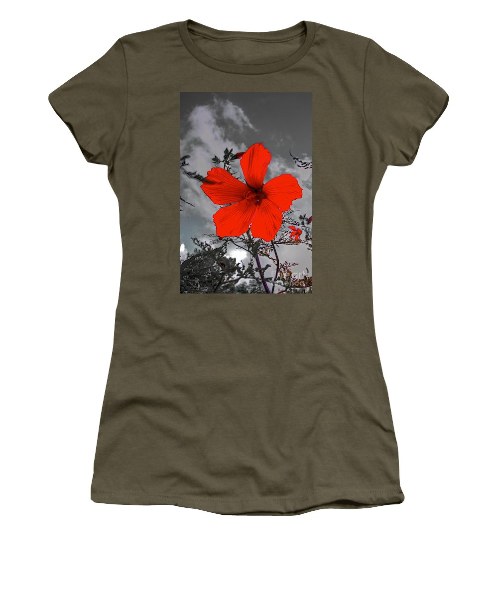 Related Tags: Women's T-Shirt (Athletic Fit) featuring the photograph Take A Stand by Robert Pearson