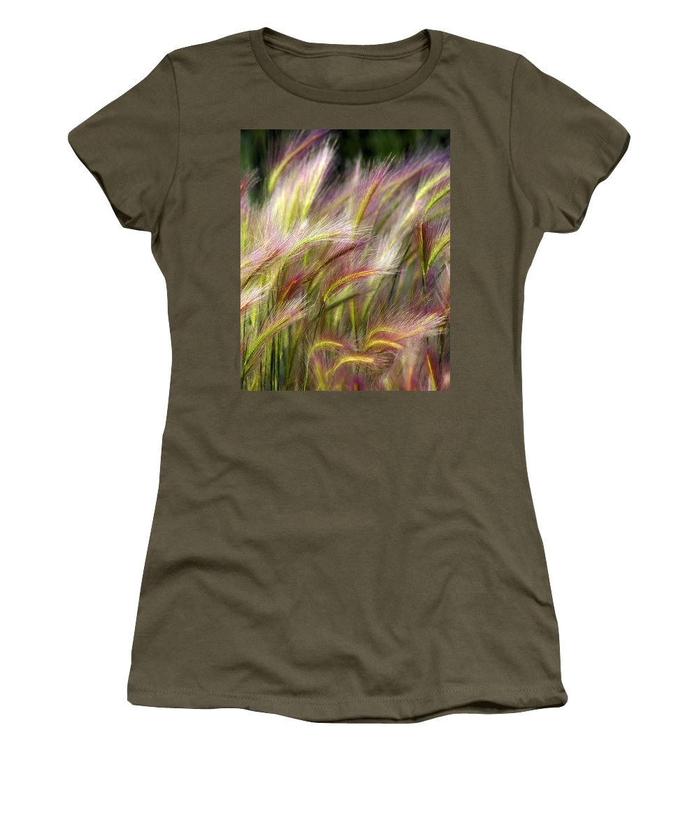 Plants Women's T-Shirt (Athletic Fit) featuring the photograph Tall Grass by Marty Koch