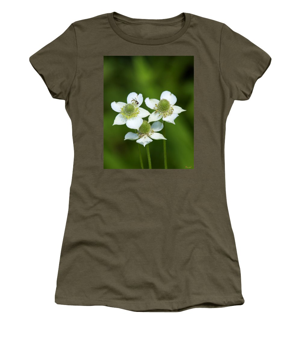Nature Women's T-Shirt featuring the photograph Tall Thimbleweed Dsmf0228 by Gerry Gantt