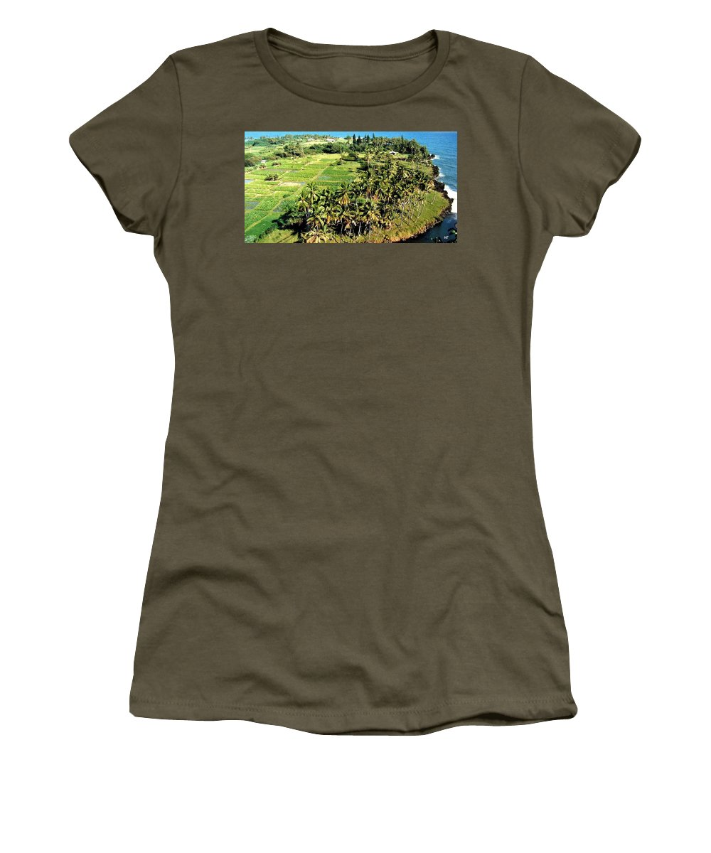 1986 Women's T-Shirt (Athletic Fit) featuring the photograph Taro Fields by Will Borden