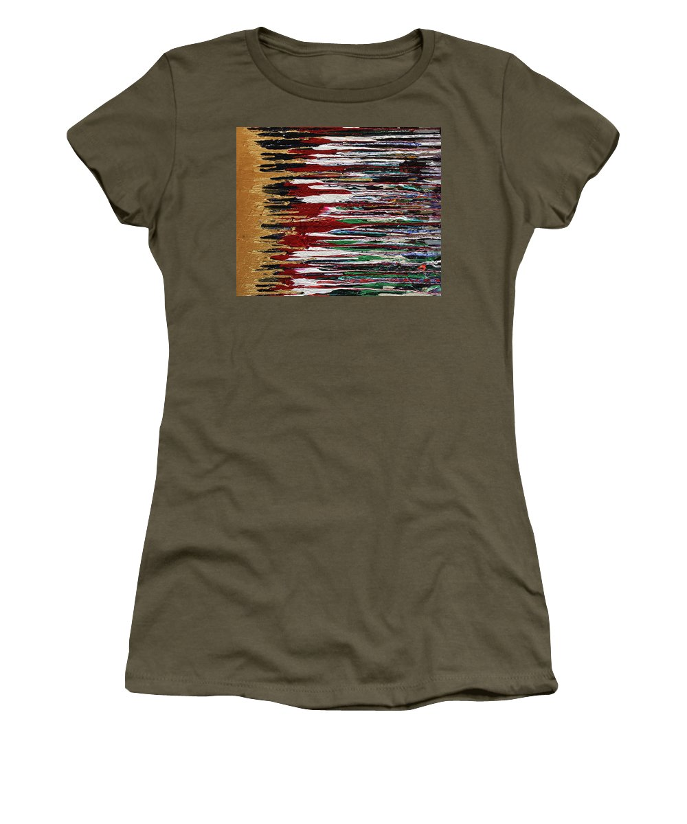 Fusionart Women's T-Shirt (Athletic Fit) featuring the painting Tears Of The Sun by Ralph White