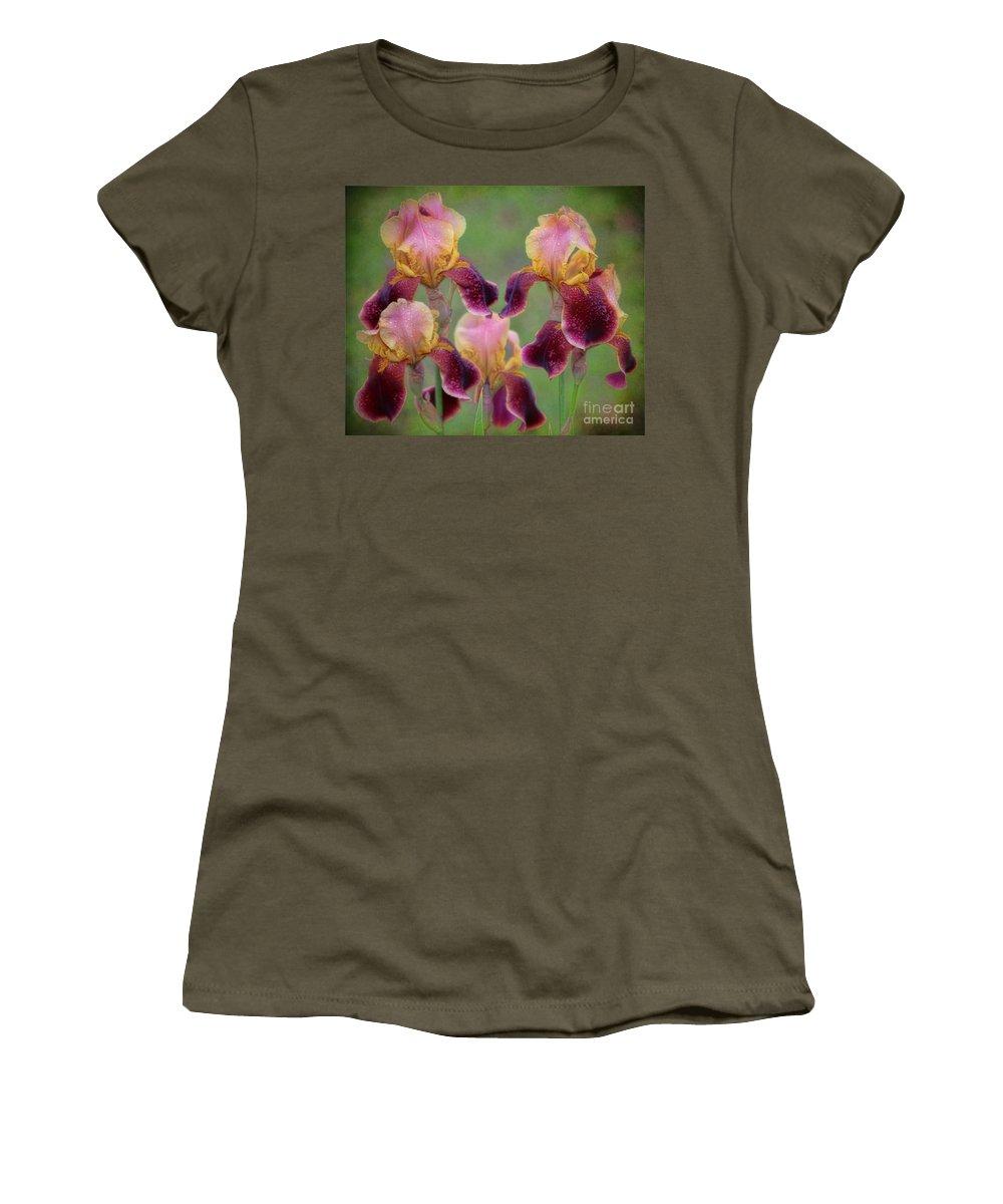 Iris Women's T-Shirt featuring the photograph Tenderly by Elizabeth Winter