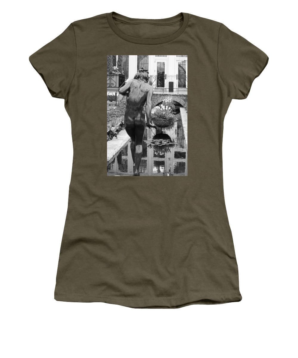 Travel Women's T-Shirt featuring the photograph Testing The Waters by Nicholas Miller
