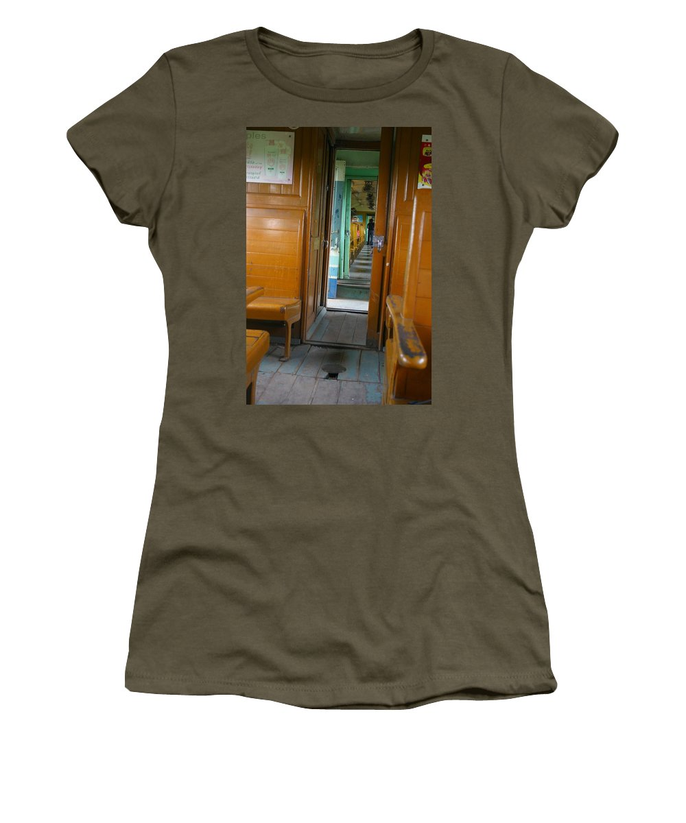 Train Women's T-Shirt (Athletic Fit) featuring the photograph Thailand Train by Minaz Jantz