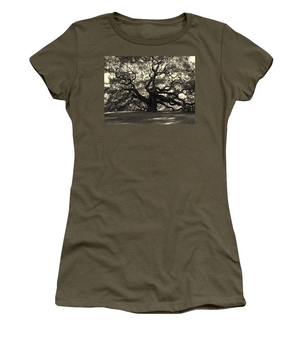 Angel Oak Women's T-Shirt featuring the photograph The Angel Oak by Susanne Van Hulst